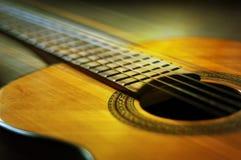 Detalle de la guitarra Foto de archivo libre de regalías