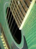 Detalle de la guitarra Imágenes de archivo libres de regalías