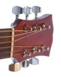 Detalle de la guitarra acústica Foto de archivo libre de regalías