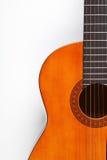 Detalle de la guitarra acústica Foto de archivo