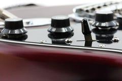 Detalle de la guitarra eléctrica Fotografía de archivo