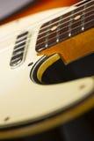 Detalle de la guitarra eléctrica Imagen de archivo