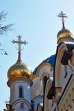 Detalle de la iglesia de la ortodoxia Imagen de archivo libre de regalías
