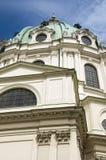 Detalle de la iglesia de St Charles en Viena Foto de archivo libre de regalías