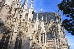 Detalle de la iglesia votiva, Viena, Austria Foto de archivo libre de regalías