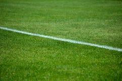 Detalle de la línea del fútbol foto de archivo