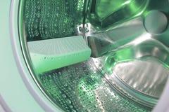 Detalle de la lavadora Fotos de archivo libres de regalías