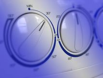 Detalle de la lavadora Imágenes de archivo libres de regalías