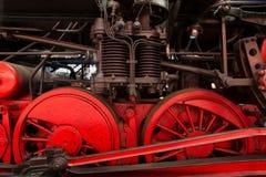 Detalle de la locomotora de vapor Imagen de archivo libre de regalías