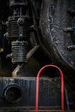 Detalle de la locomotora de vapor Fotografía de archivo