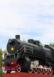 Detalle de la locomotora del motor de vapor de la vendimia Imágenes de archivo libres de regalías