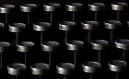 Detalle de la máquina de escribir del vintage Foto de archivo libre de regalías