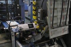 Detalle de la máquina de impresión en offset imágenes de archivo libres de regalías