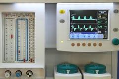 Detalle de la máquina de la anestesia Imagen de archivo libre de regalías