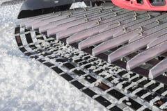 Detalle de la máquina para las preparaciones de esquí de la cuesta Foto de archivo