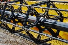Detalle de la máquina segadora Imagen de archivo