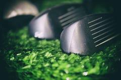 Detalle de la macro del club de golf Imagenes de archivo