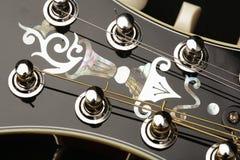 Detalle de la mandolina en fondo negro Imagen de archivo libre de regalías