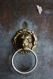 Detalle de la maneta de puerta alemana del león Fotos de archivo libres de regalías