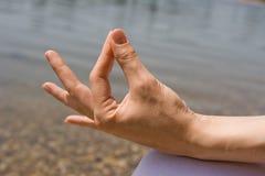 Detalle de la meditación Fotografía de archivo