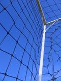 Detalle de la meta del fútbol Imágenes de archivo libres de regalías