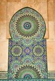 Detalle de la mezquita de Hassan II en Casablanca Foto de archivo libre de regalías