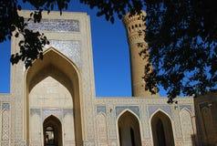 Detalle de la mezquita Kalon en Bukhara Foto de archivo libre de regalías