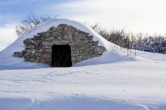 Detalle de la montaña de Abruzzi Imágenes de archivo libres de regalías