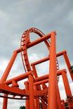 Detalle de la montaña rusa Imagenes de archivo