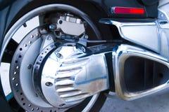 Detalle de la motocicleta Fotografía de archivo