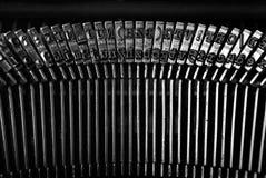 Detalle de la máquina de escribir del vintage Fotos de archivo libres de regalías
