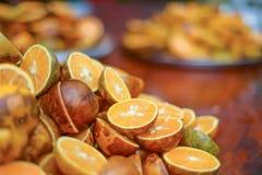 Detalle de la naranja Fotografía de archivo