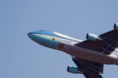 Detalle de la nariz de Air Force One Imagen de archivo