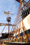 Detalle de la nave pasada de moda Foto de archivo