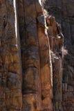 Detalle de la pared de barranca, barranca de Poudre Imagen de archivo
