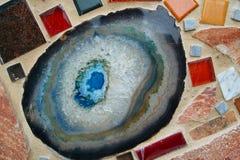 Detalle de la pared del mosaico imágenes de archivo libres de regalías