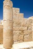 Detalle de la pared en el sitio Avdat de la UNESCO Foto de archivo