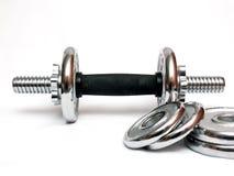 Detalle de la pesa de gimnasia Foto de archivo libre de regalías