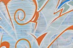 Detalle de la pintada en la pared pintada Fotografía de archivo