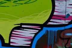 Detalle de la pintada en la pared pintada Fotos de archivo