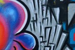 Detalle de la pintada en la pared pintada Foto de archivo libre de regalías