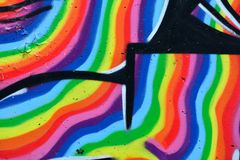 Detalle de la pintada en la pared pintada Imagenes de archivo