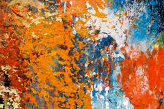 Detalle de la pintura al óleo impresionista en lona stock de ilustración