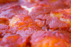 Detalle de la pizza Foto de archivo