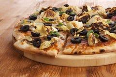 Detalle de la pizza Fotos de archivo
