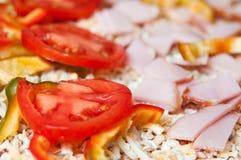 Detalle de la pizza foto de archivo libre de regalías