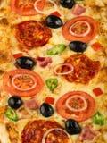 Detalle de la pizza Imagenes de archivo