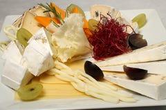 Detalle de la placa de queso Foto de archivo