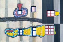 Detalle de la planta de Spittelau por Hundertwasser, Viena Imágenes de archivo libres de regalías