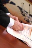Detalle de la presentación del asunto Fotos de archivo libres de regalías